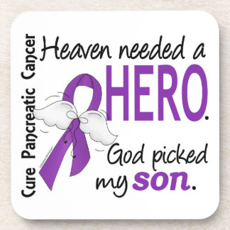 Heaven Needed Hero Son Pancreatic Cancer Coasters