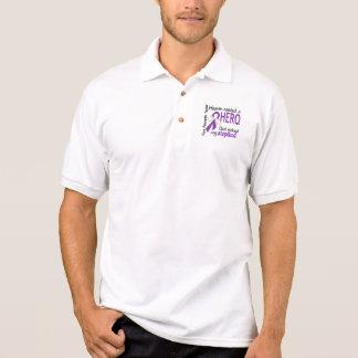Heaven Needed Hero Stepdad Pancreatic Cancer Polo Shirt