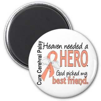 Heaven Needed Hero Uterine Cancer Best Friend Magnets