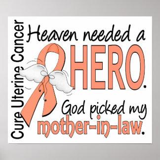 Heaven Needed Hero Uterine Cancer Mother-In-Law Print