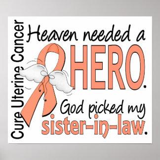 Heaven Needed Hero Uterine Cancer Sister-In-Law Print