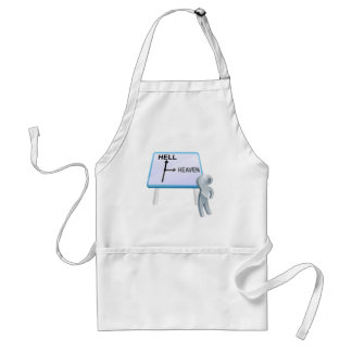 Heaven or hell sign standard apron