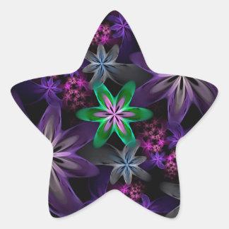 Heaven Scent, beautiful fractal flower garden. Star Sticker