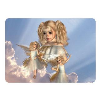 "heaven-sent-1 5"" x 7"" invitation card"