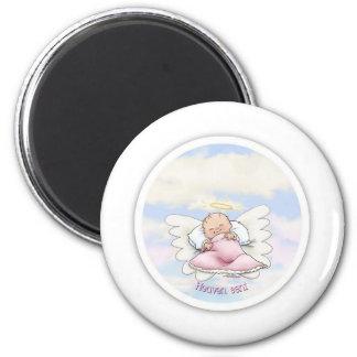 Heaven Sent - Angel Baby Girl 6 Cm Round Magnet