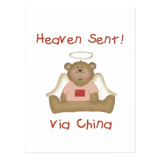 Heaven Sent Via China (girl) Postcards
