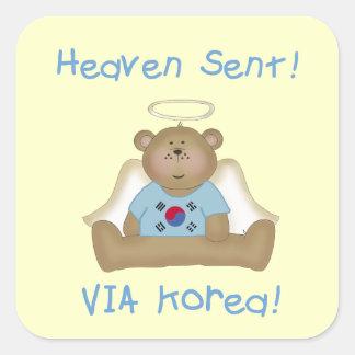 Heaven Sent Via Korea boys version Stickers