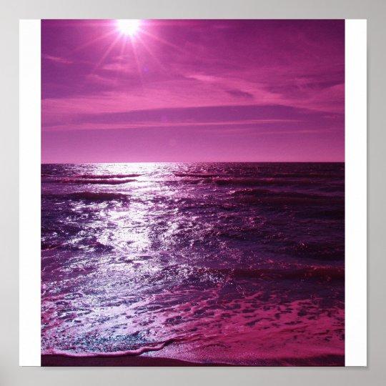 Heaven Shines Purple Poster
