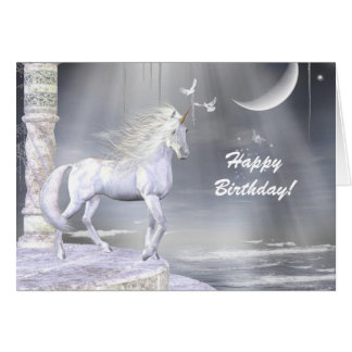Heavenly Angel Unicorn Scene Greeting Card