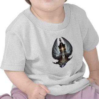 Heavenly Angel Wing Cross Fractal Art T Shirt