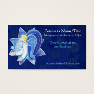 Heavenly Beings Angel Folk Art MEDIUM LIGHT WORKER Business Card