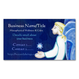 Heavenly Beings Angel Folk Art MEDIUM LIGHTWORKER Magnetic Business Cards