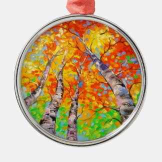 Heavenly birch christmas ornament