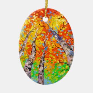 Heavenly birch christmas ornament
