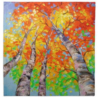 Heavenly birch napkin