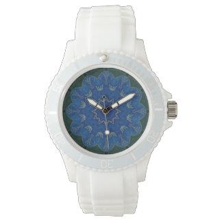 Heavenly Blue Flower Mandala Watch sporty