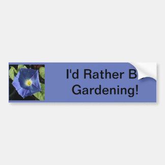 Heavenly Blue Morning Glory Bumper Sticker
