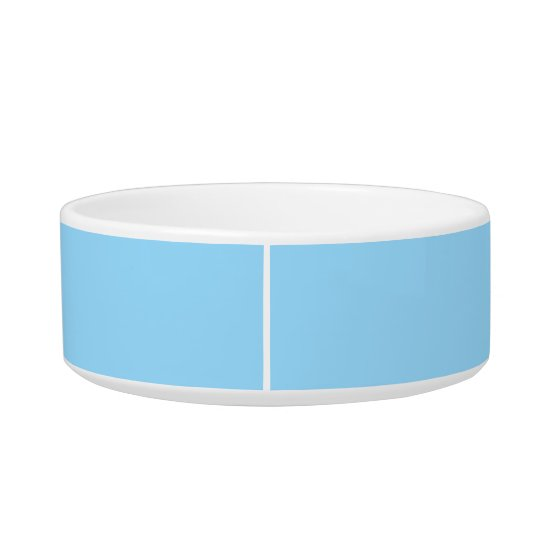Heavenly Blue Simple Colour Coordinated Cat Bowls