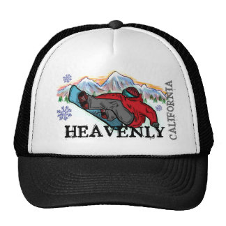 Heavenly California snowboarder shred hat