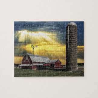 Heavenly Country Farm Jigsaw Puzzle