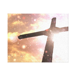 Heavenly Cross Premium Wrapped Canvas Canvas Print