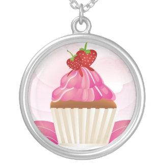 Heavenly Cupcake Round Pendant Necklace