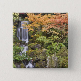 Heavenly Falls and autumn colors 15 Cm Square Badge