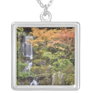 Heavenly Falls and autumn colors Silver Plated Necklace