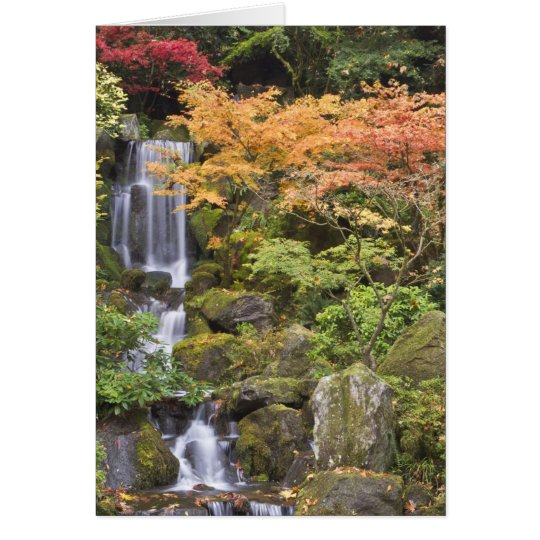 Heavenly Falls and autumn colours Card