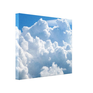 Heavenly fluffy clouds canvas print