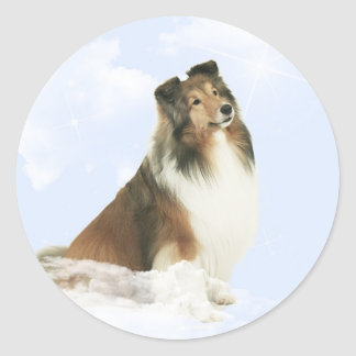 Heavenly Grace Sheltie Round Sticker