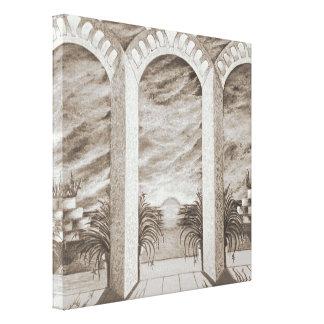 Heavenly home sepia canvas prints