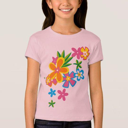 Heavenly Hula Flowers Girls T-Shirt