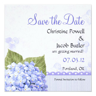 Heavenly Hydrangea - Save the Date Card