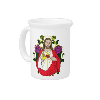 Heavenly Jesus Sacred Heart Pitcher