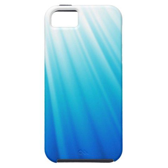 Heavenly Light Ombre white aqua blue iPhone 5