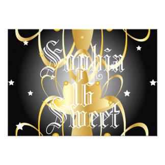Heavenly Lights Coronation Sweet Sixteen-Customize Personalized Invitation