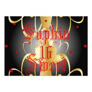 Heavenly Lights Coronation Sweet Sixteen-Customize Invitation