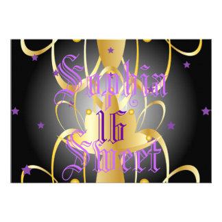 Heavenly Lights Coronation Sweet Sixteen-Customize Custom Announcements