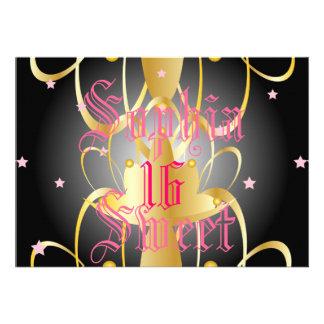 Heavenly Lights Coronation Sweet Sixteen-Customize Custom Invites