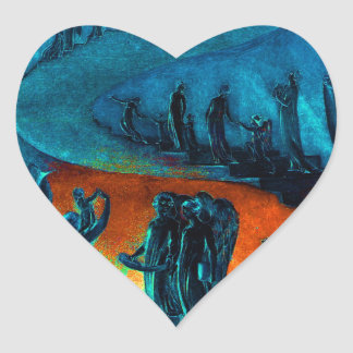 Heavenly Music Band Heart Sticker
