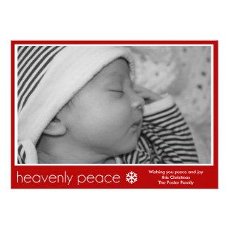 Heavenly Peace New Baby Photo Christmas Card Custom Invitations