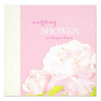 Heavenly Pink Luxe Florals Wedding Shower Invites
