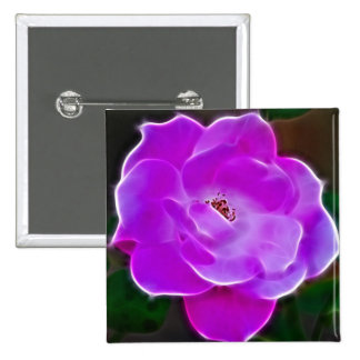 Heavenly pink rose and meaning 15 cm square badge