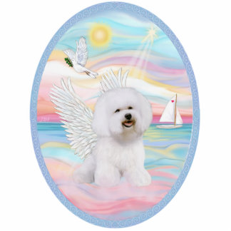 Heavenly Sea and Bichon Frise #1 Standing Photo Sculpture