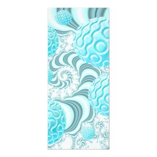 Heavenly Sea Shells, Abstract Pastel Beach 4x9.25 Paper Invitation Card