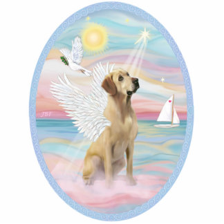 Heavenly Sea - Yellow Labrador Standing Photo Sculpture
