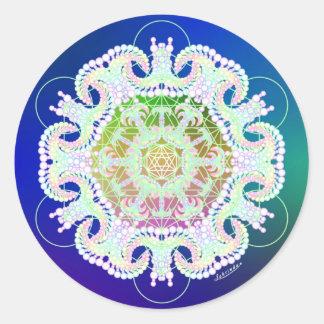 Heavenly Snow Round Sticker