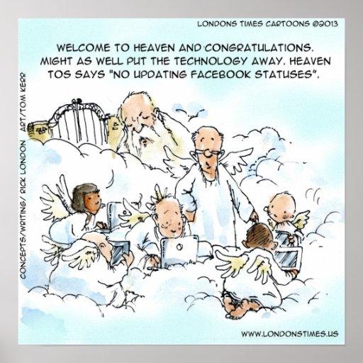 Heavenly Social Media Funny Print