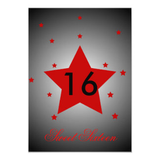 Heavenly Star Sweet Sixteen-Customize Card